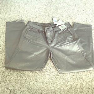 NWT Calvin Klein Metallic Skinny Jeans